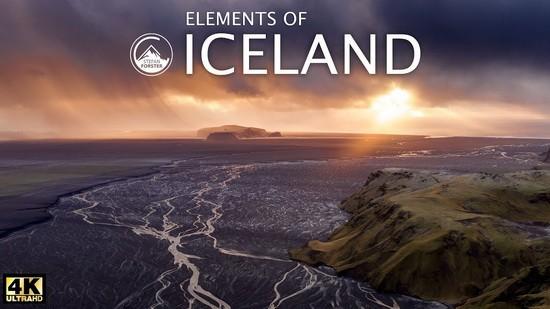 заставка к видео ICELAND в 4K