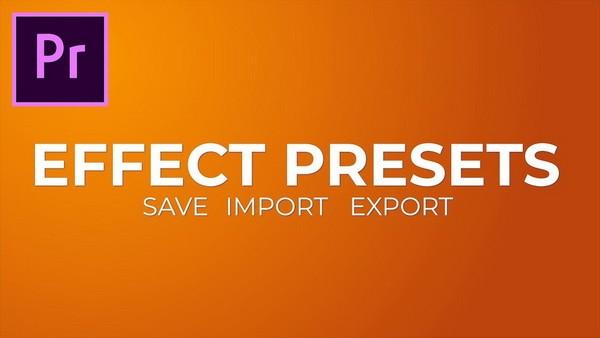 сохранение пресетов для Premiere pro