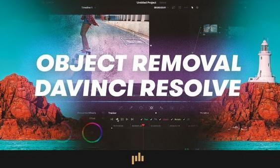 заставка - удаляем объекты в Davinci Resolve