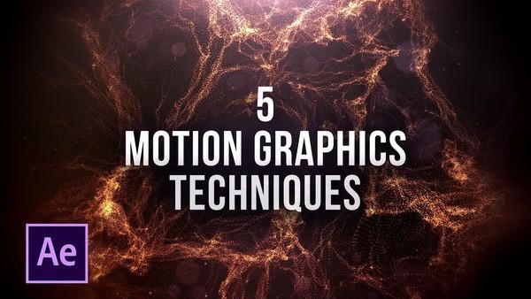 заставка 5 крутых техник моушена в After Effects