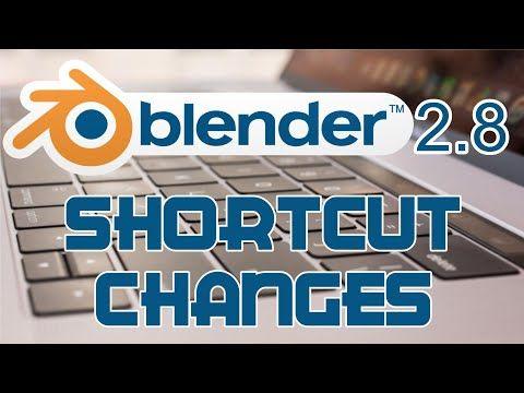 заставка горячие клавиши для Blender 2.8