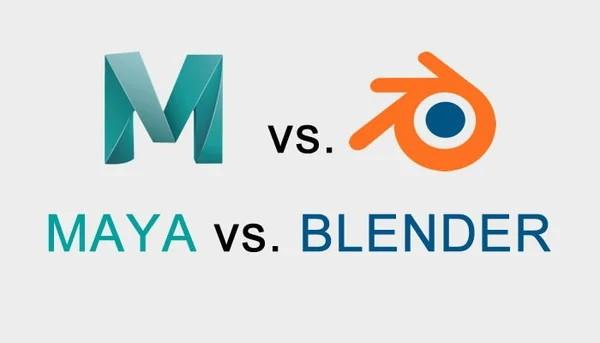 заставка maya против blender