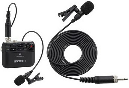 Zoom F2 and F2-BT come with a lavalier mic. Источник: Zoom